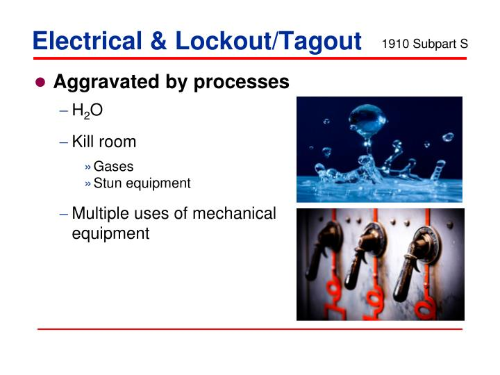 Electrical & Lockout/Tagout