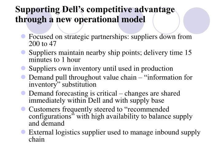 dell competitve advantage essay Information systems essay - organizational restructuring need to understand is that it can only confer business competitive advantage.