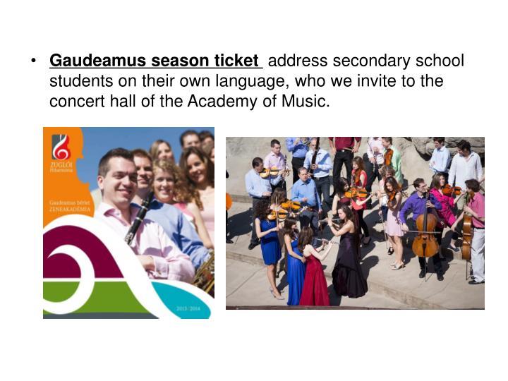 Gaudeamus season ticket