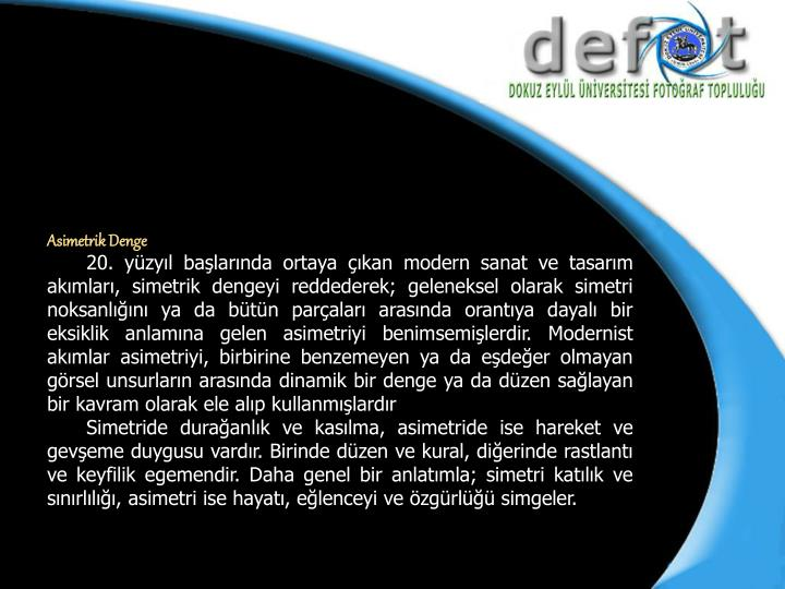 Asimetrik Denge