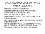 cyclic reduncy code or frame chech sequance