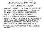 delay analysis for packet switching network