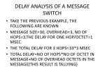 delay analysis of a message switch