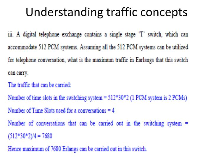 Understanding traffic concepts