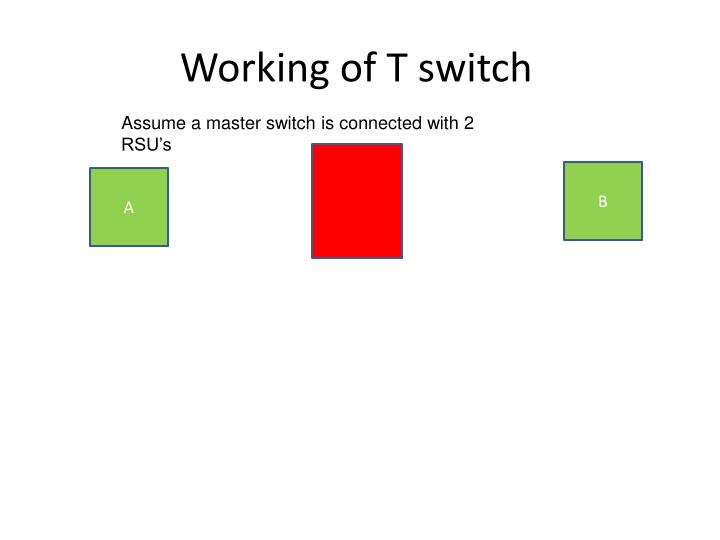 Working of T switch