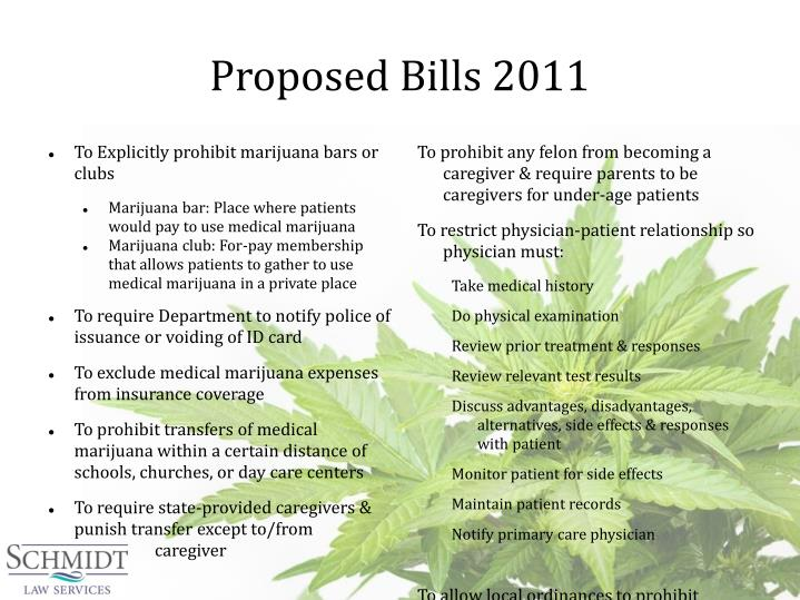 Proposed Bills 2011