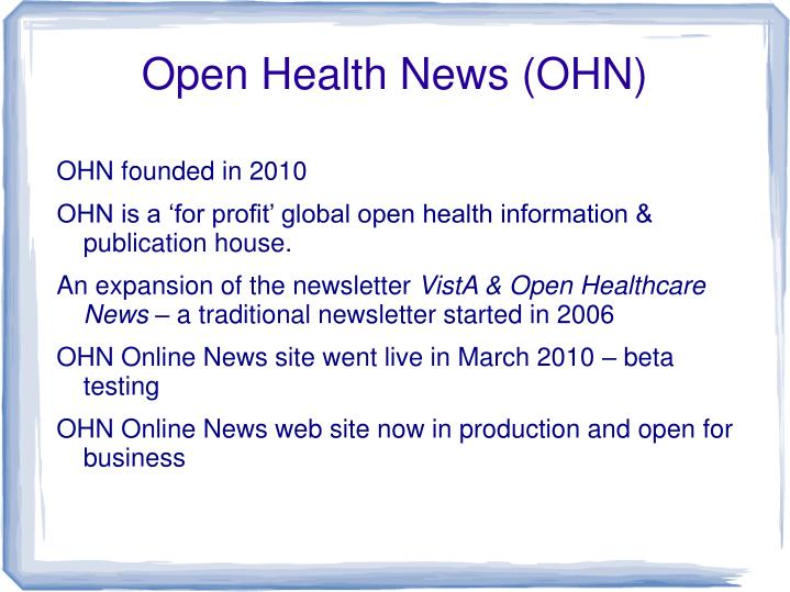 Open Health News (OHN)