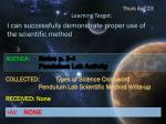 topic scientific method