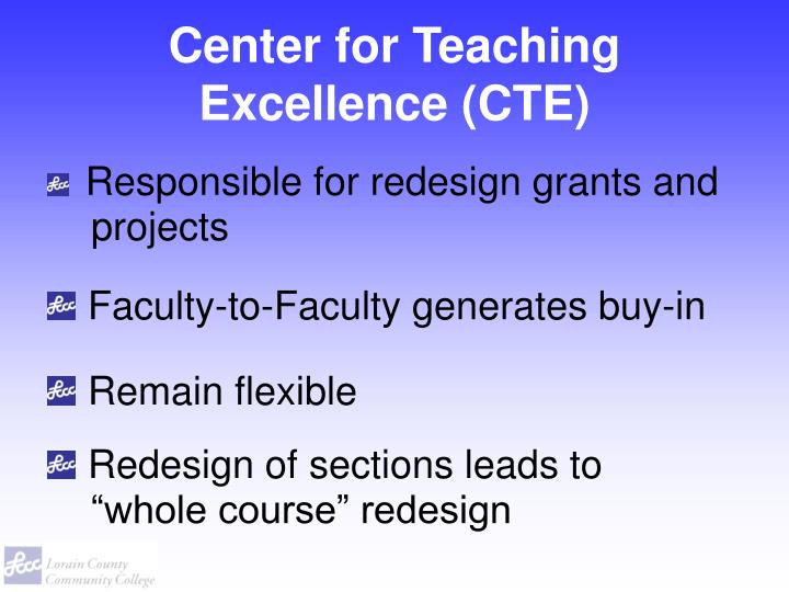 Center for Teaching Excellence (CTE)