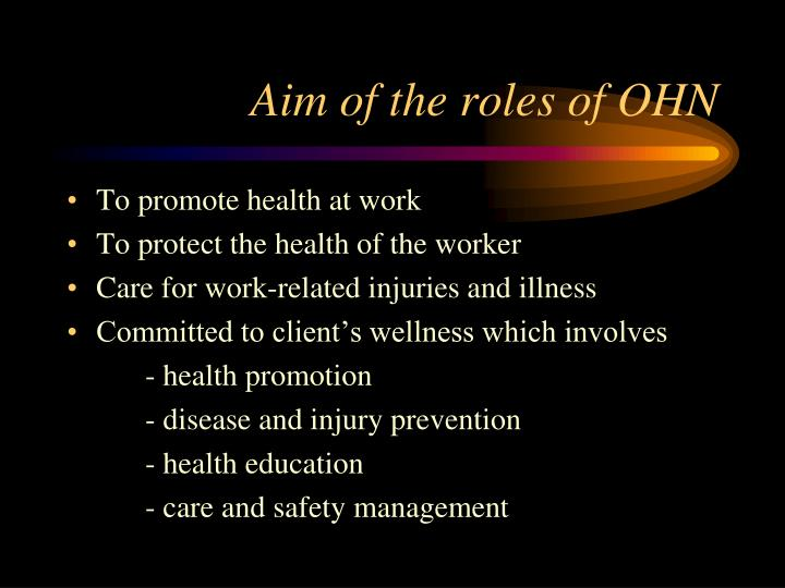 Aim of the roles of OHN