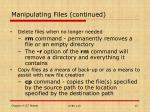 manipulating files continued