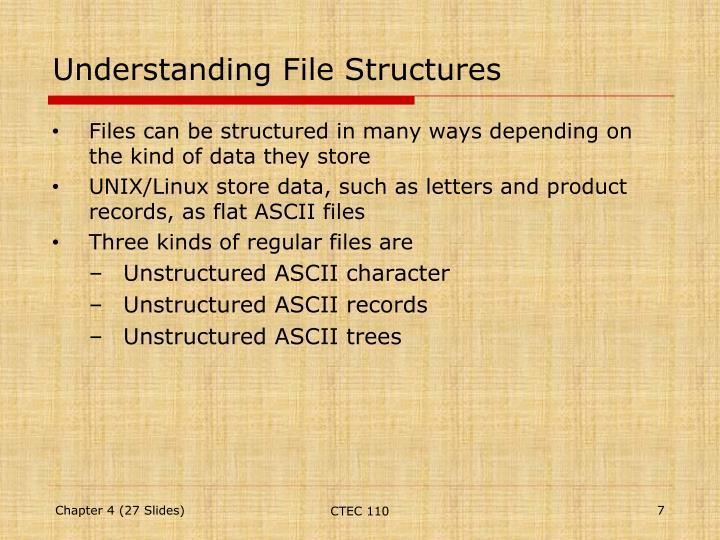 Understanding File Structures