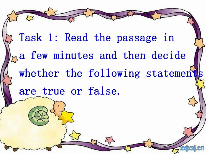 Task 1: Read the passage in