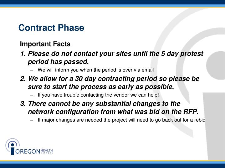 Contract Phase