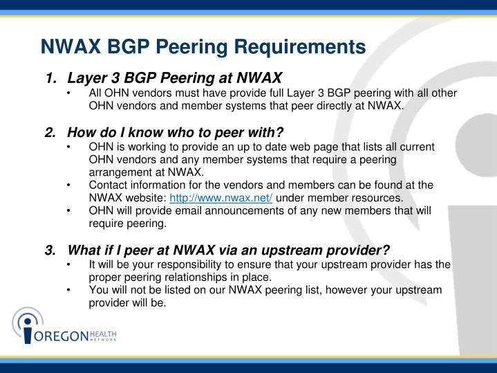 NWAX BGP Peering Requirements
