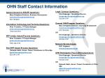 ohn staff contact information