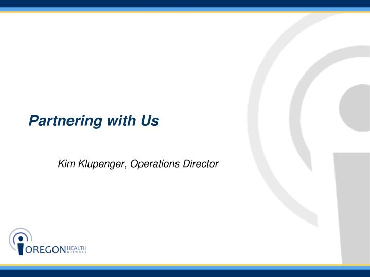 Partnering with Us