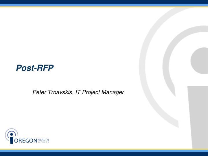 Post-RFP