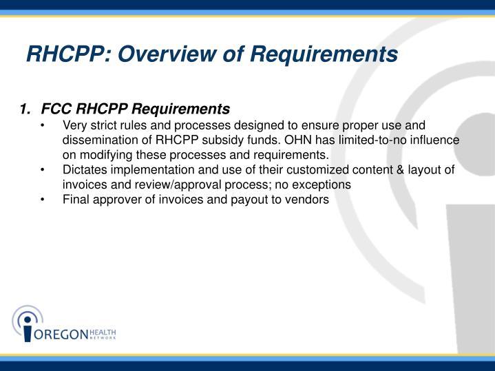 FCC RHCPP Requirements