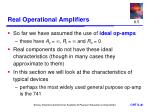 real operational amplifiers