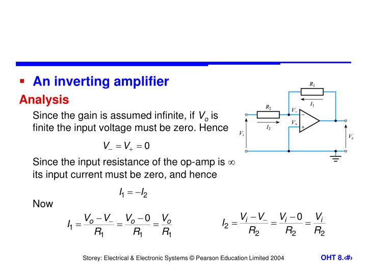An inverting amplifier