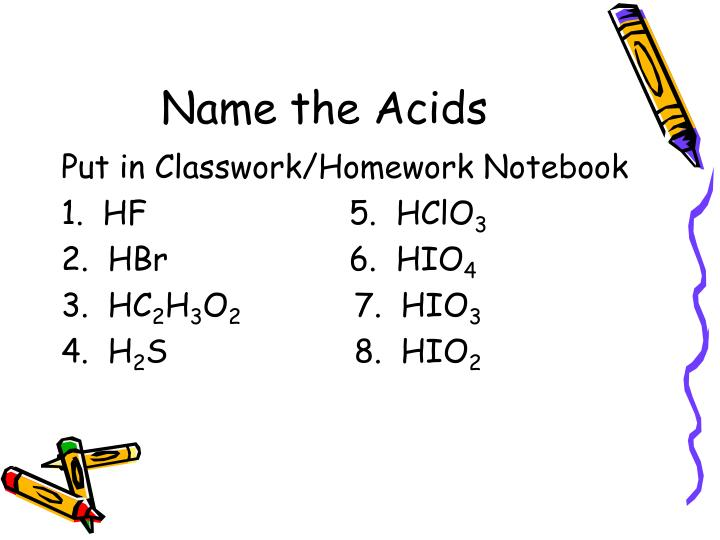Name the Acids
