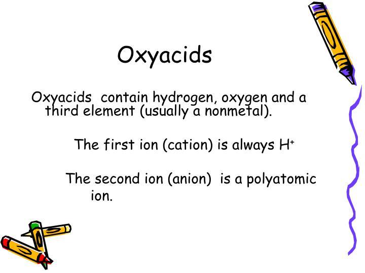 Oxyacids