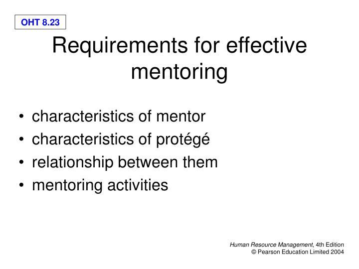 characteristics of mentor