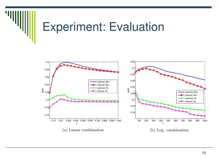 Experiment: Evaluation