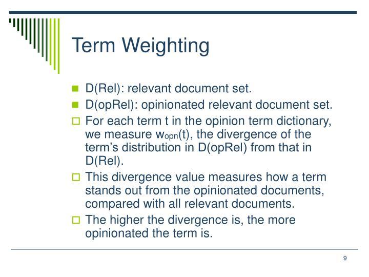 Term Weighting