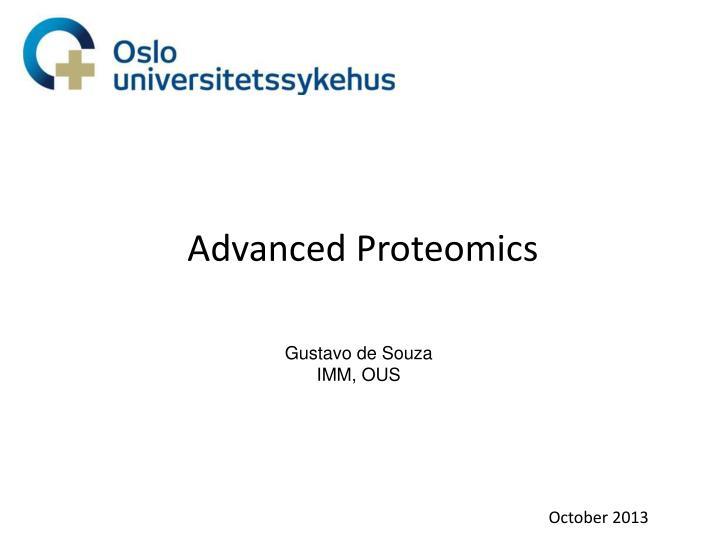 Advanced Proteomics