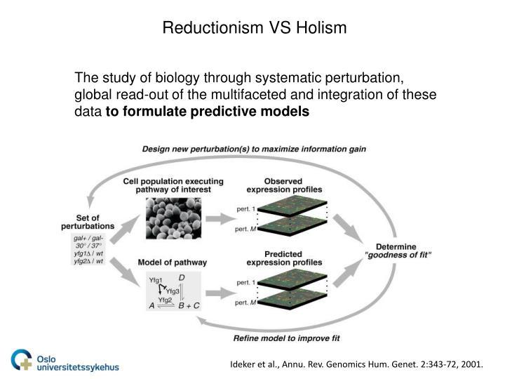 Reductionism VS Holism
