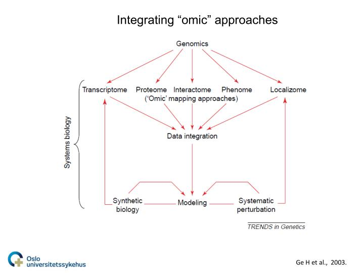 """Integrating """"omic"""" approaches"""