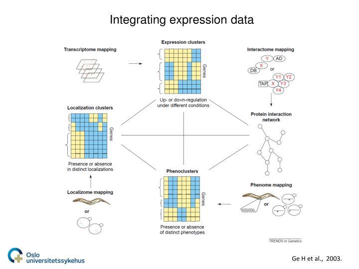 Integrating expression data