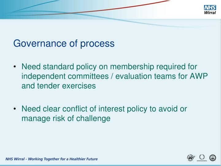 Governance of process