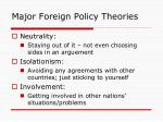 major foreign policy theories