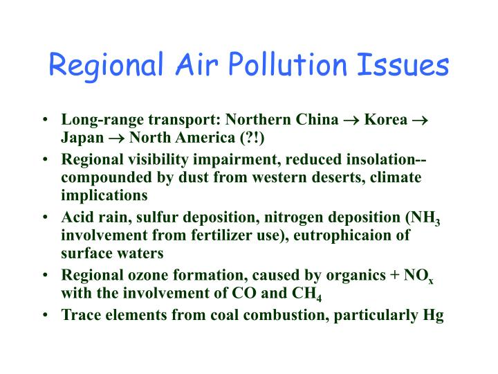 Long-range transport: Northern China