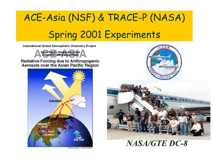 ACE-Asia (NSF) & TRACE-P (NASA)