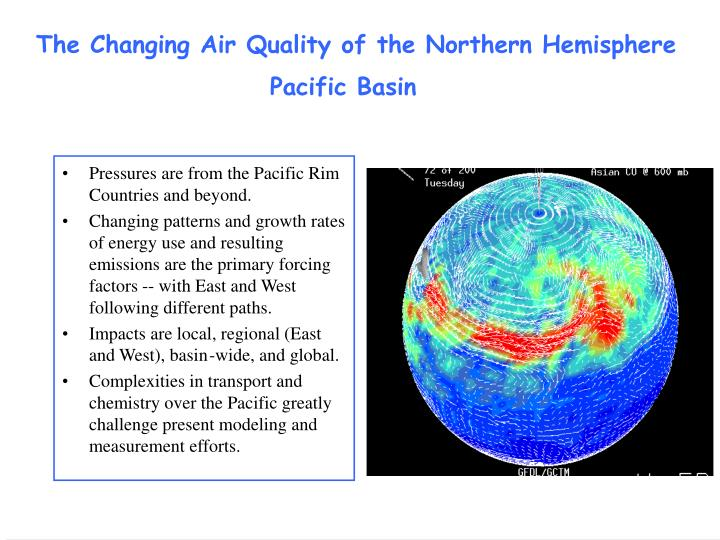 The Changing Air Quality of the Northern Hemisphere