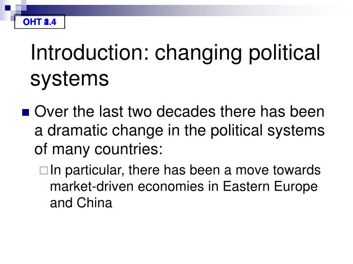 Introduction: changing political systems