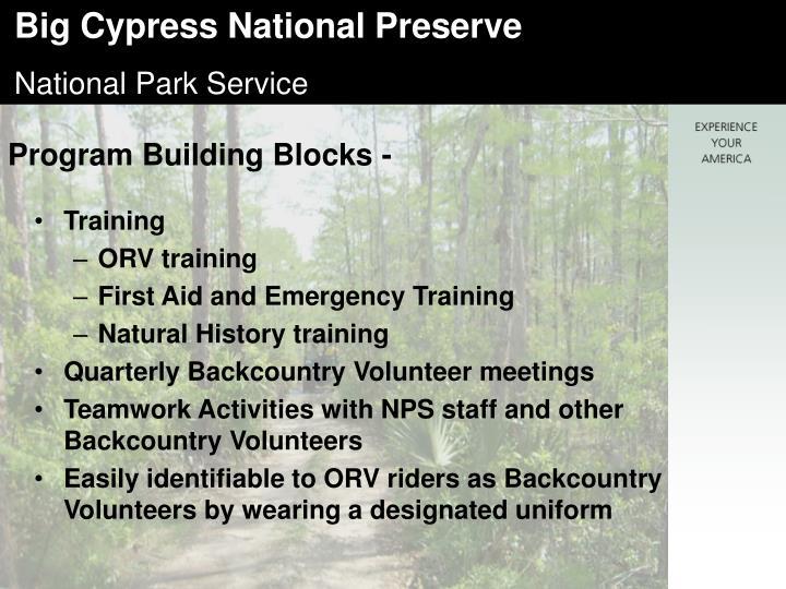 Program Building Blocks -