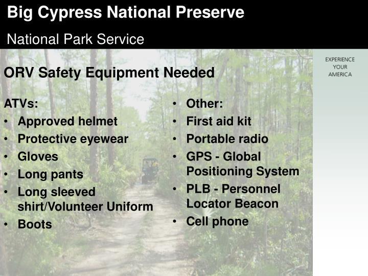 ORV Safety Equipment Needed