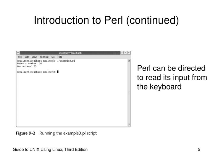 Introduction to Perl (continued)