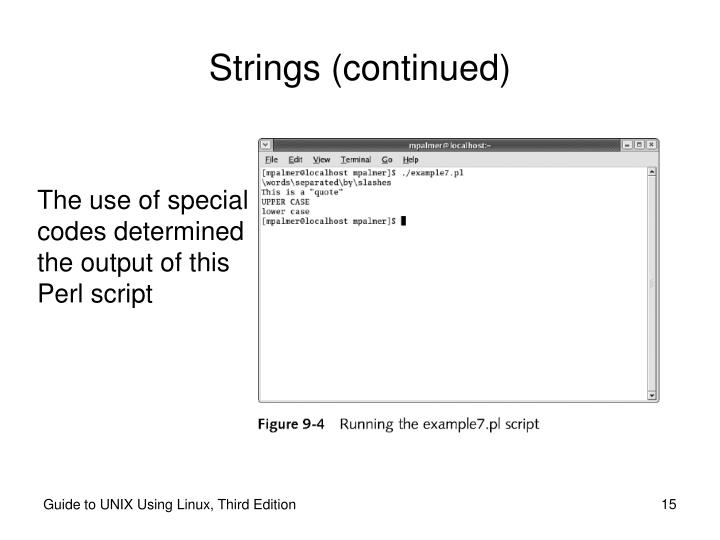 Strings (continued)