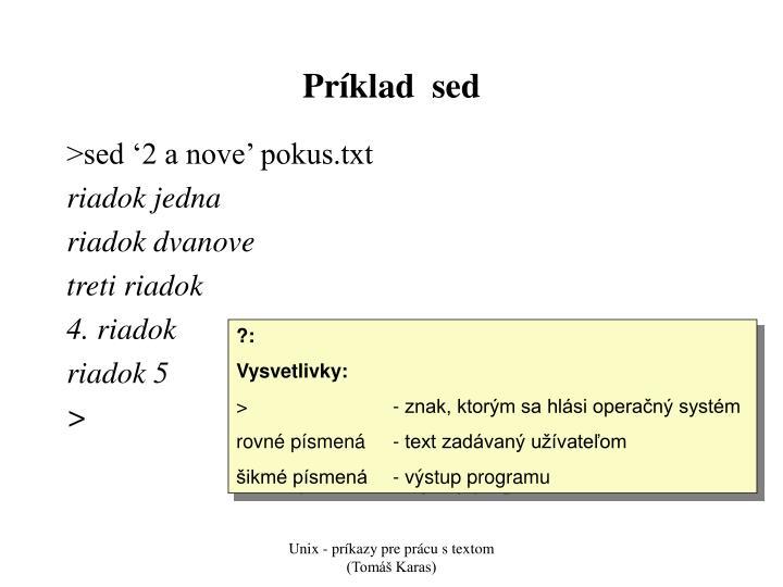 Príklad