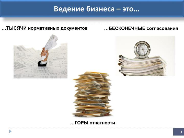 Ведение бизнеса – это…