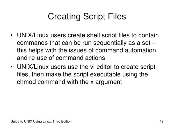 Creating Script Files