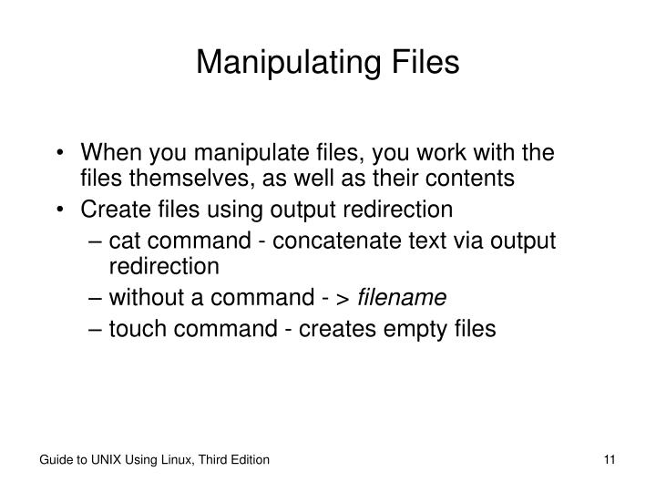 Manipulating Files