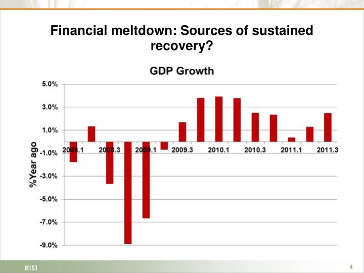Financial meltdown: Sources of sustained recovery?