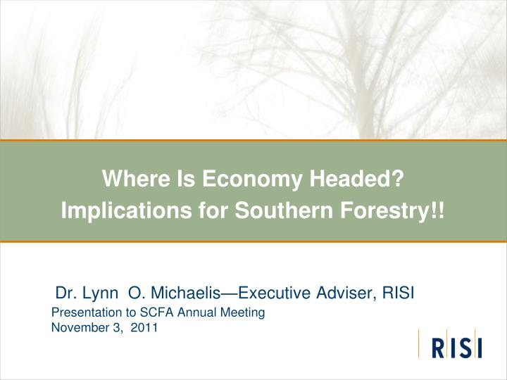 where is economy headed implications for southern forestry